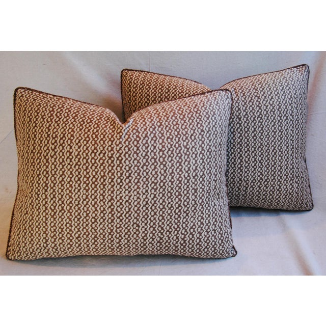 Italian Mariano Fortuny Tapa Feather & Down Pillows - A Pair - Image 2 of 10