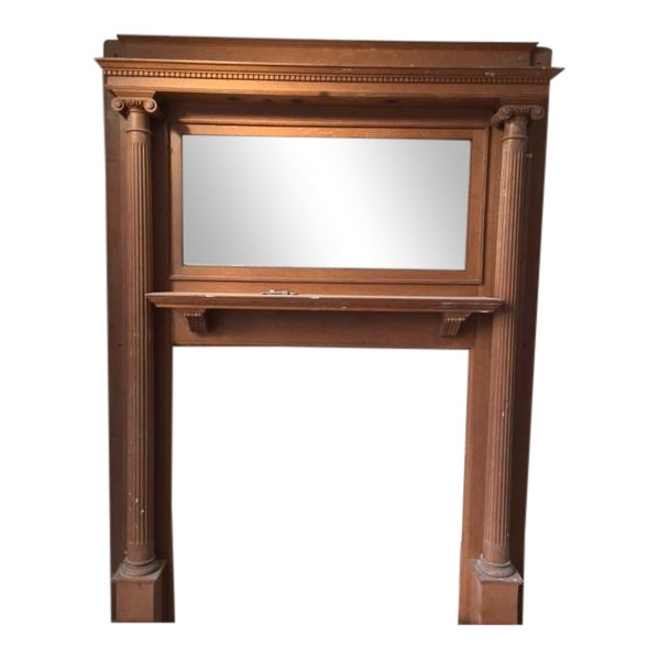 American Victorian Fireplace Mantel - Image 1 of 6