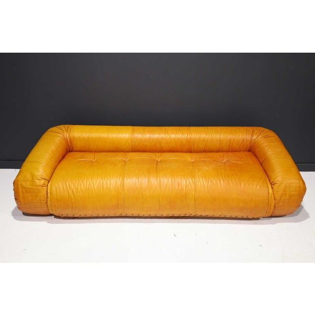 Leather Anfibio Sofa Bed by Alessandro Becchi for Giovannetti Collezioni, 1970s For Sale - Image 9 of 13