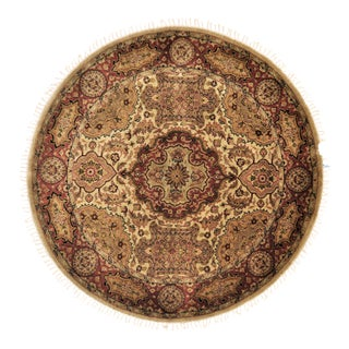 "Traditional Wool Round Rug - 4'10"" X 4'10"" For Sale"
