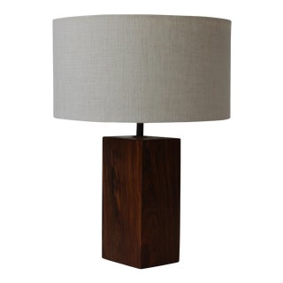 1960s Vintage Mid Century Rosewood Lamp For Sale