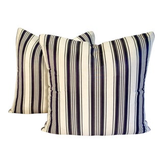Striped Decorative Pillows - Pair For Sale