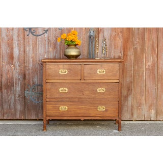 Antique Campaign Teak Dresser Preview