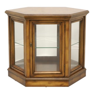 Weiman Mid Century Hexagonal Accent Table With Glass Cabinet For Sale