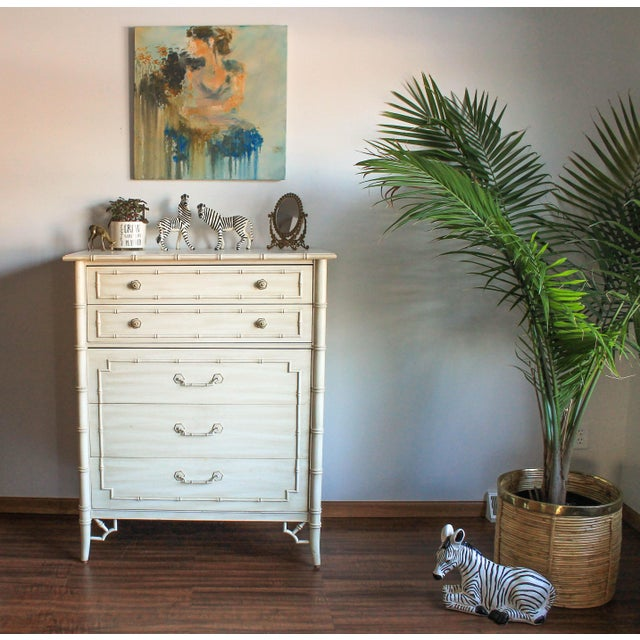 Thomasville Faux Bamboo Chest of Drawers For Sale - Image 11 of 11