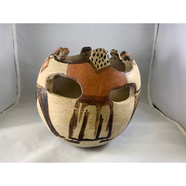 Ceramic Southwest Handmade and Hand Painted Papago Friendship Pottery Bowl For Sale - Image 7 of 13