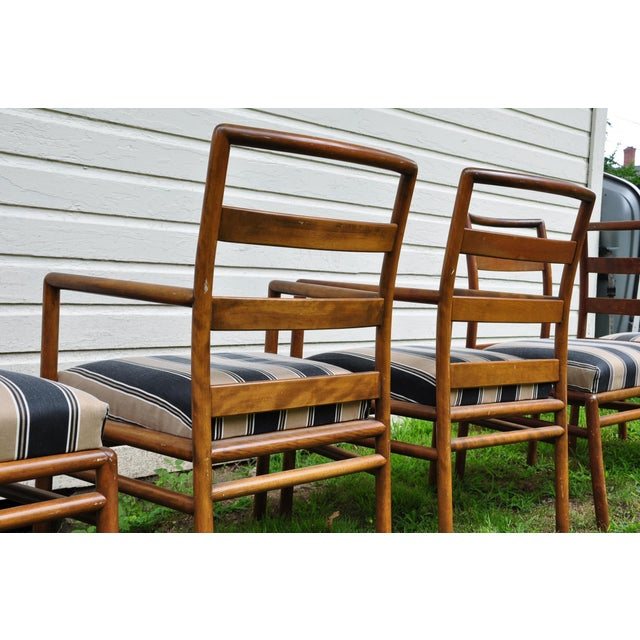1950s Mid-Century Modern t.h. Robsjohn-Gibbings for Widdicomb Dining Chairs - Set of 6 For Sale - Image 9 of 13