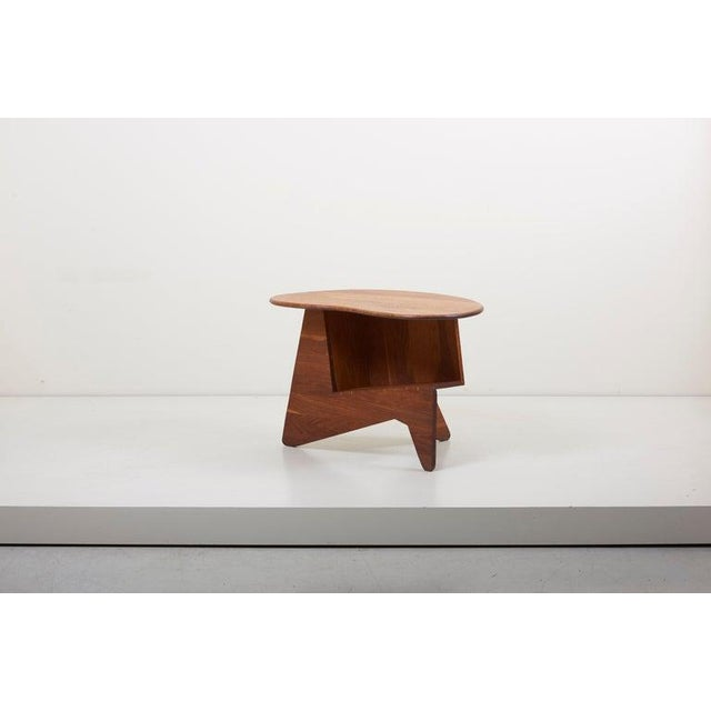 Brown Pair of Wooden Mid-Century Modern Studio Side Tables, Us For Sale - Image 8 of 12