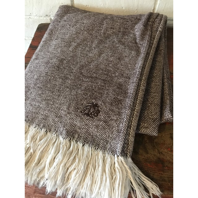 Brown & Ivory Woven Cotton Throw - Image 6 of 10