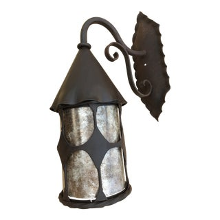 Antique Reproduction Brown Tudor Craftsman Style Exterior Light For Sale
