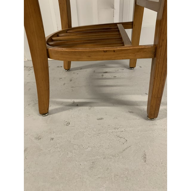 Mid-Century Modern Vintage High Point Bending & Chair Co. Solid Oak School Chair For Sale - Image 3 of 8
