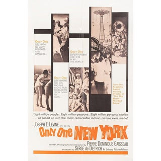 Only One New York 1964 U.S. One Sheet Film Poster For Sale