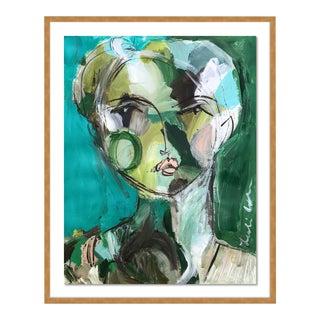 Bryn by Leslie Weaver in Gold Framed Paper, Medium Art Print For Sale