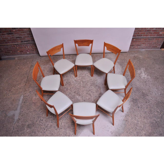 Winchendon Furniture Company Stained Maple Dining Chairs by Paul McCobb for Perimeter - Set of 8 For Sale - Image 4 of 13