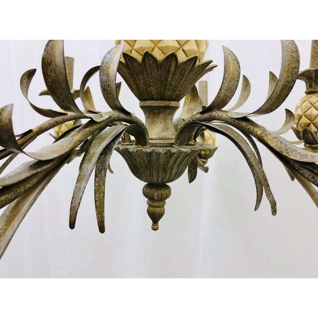 Mid 20th Century Vintage Pineapple Chandelier For Sale - Image 5 of 8