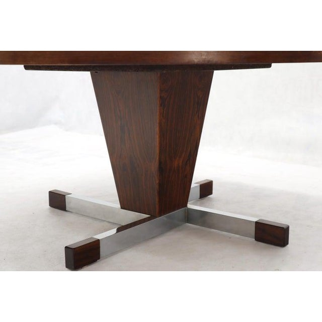 Art Tile Top Rosewood Cone Shape Base Round Coffee Table For Sale - Image 9 of 10