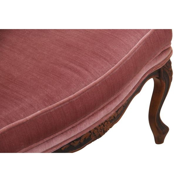 Louis XV Style Dusty Rose Armchairs - A Pair For Sale - Image 5 of 8