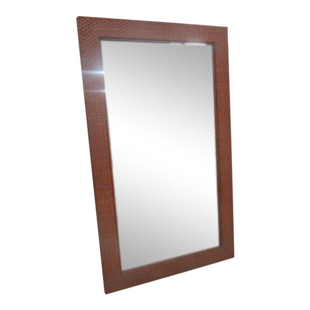 Tall Rattan Woven Mirror - Image 1 of 8