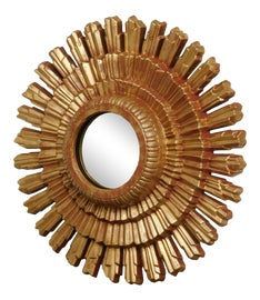 Image of Hollywood Regency Sunburst Mirrors