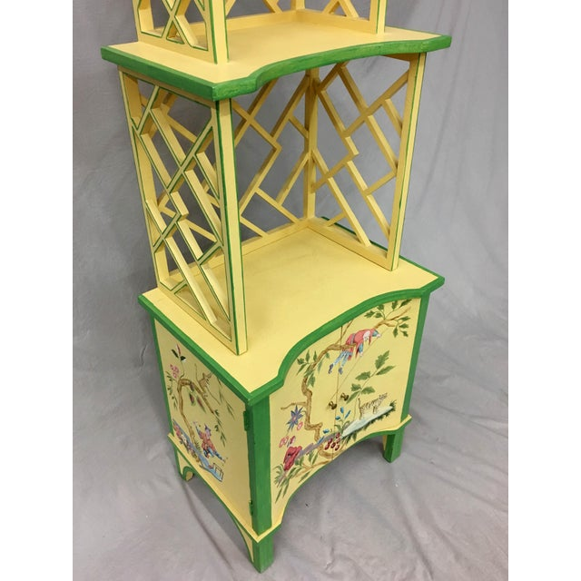 1980s Chinese Style Painted Shelf For Sale - Image 5 of 11