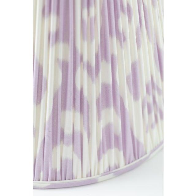 "Soft Ikat in Lavender 10"" Lamp Shade, Lavender For Sale - Image 4 of 7"