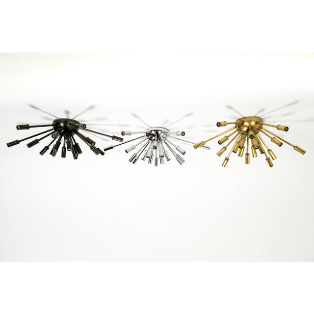 Contemporary Sputnik Flush Mount / Sconce in Brass or Bronze Finish For Sale - Image 3 of 9