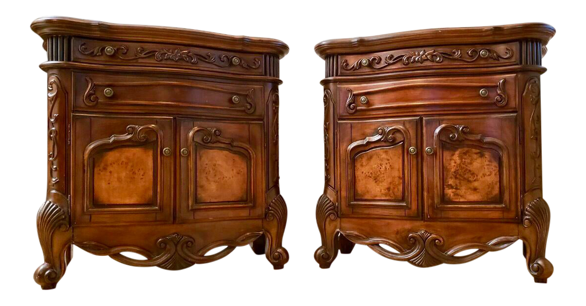 French Provincial Country End Tables   A Pair For Sale