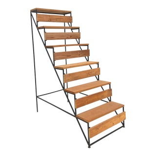 Modern Staircase Style Bookcase or Shelf Unit For Sale