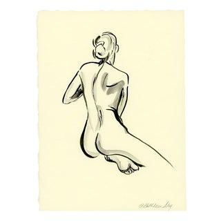 Brush Figure V Original Ink Drawing For Sale
