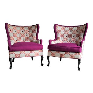 Vintage Butterfly Wingback Chairs - a Pair
