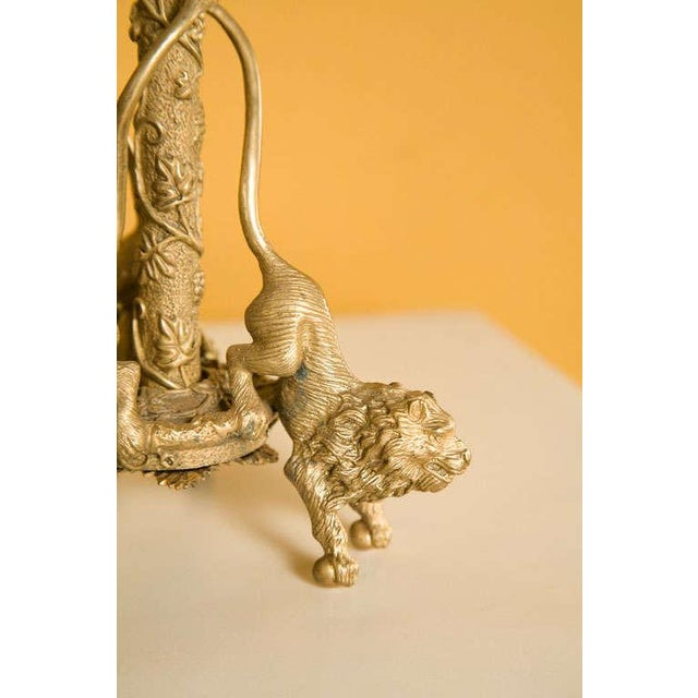 Early 20th Century Pair Renaissance-Style Gilt Bronze Candlesticks For Sale - Image 5 of 6