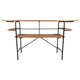 Barcalo Iron and Wood Tiered Table / Desk For Sale