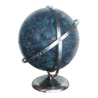 Mid Century Celestial Globe on Chrome Base