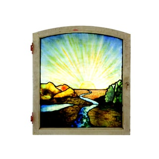 1920's Vintage Stained Glass Window Preview