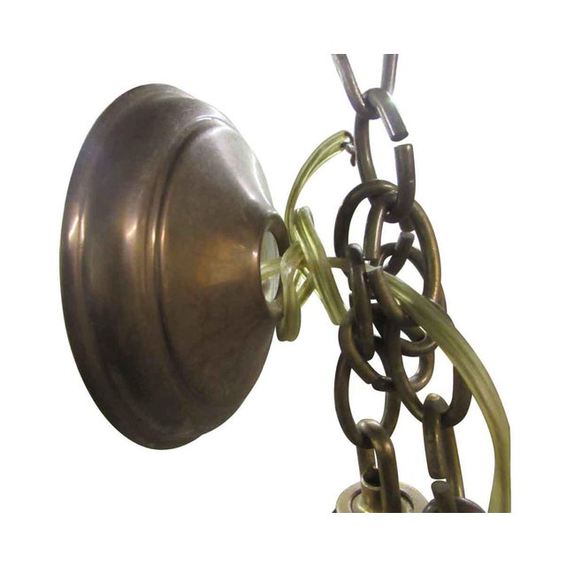 Mid-Century Modern Olde Brass Chandelier For Sale - Image 3 of 8