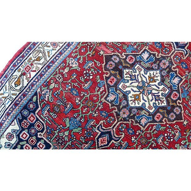 "Islamic Persian Bijar Rug - 4'10"" X 3'5"" For Sale - Image 3 of 6"