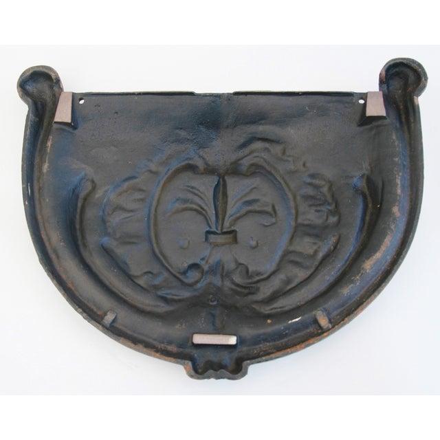 19th C. French Fleur-De-Lis Iron Relief Plaque - Image 8 of 8