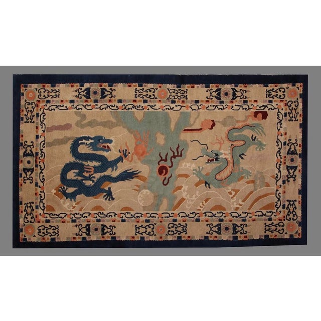 1920s Chinese Peking Rug Dragon Rug-5′2″ × 8′8″ For Sale In San Francisco - Image 6 of 6