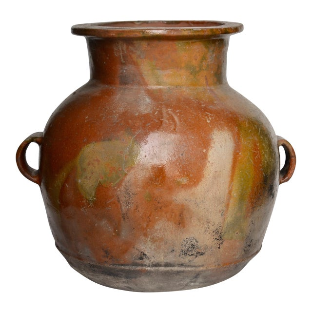 Antique Guatemalan Large Terracotta Water Container For Sale