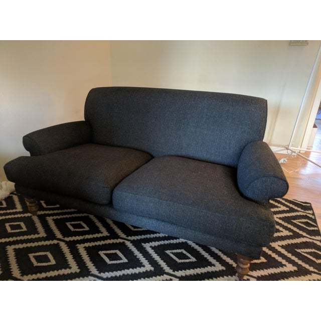 Traditional Charcoal Highland Tweed Sofa For Sale In San Francisco - Image 6 of 6