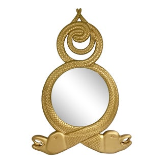 Entwined Dolphin Serpent Mirror For Sale