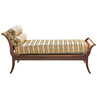 19th Century Italian Chaise Lounge/Recamier For Sale