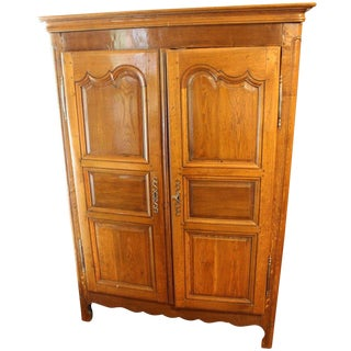 19th C. Country French Armoire For Sale