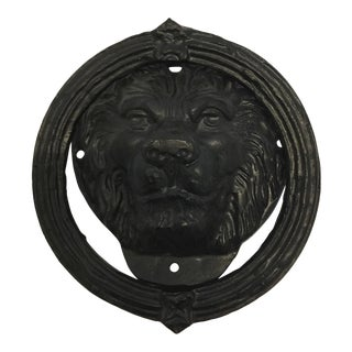 Cast Iron Lion Head Door Knocker For Sale