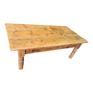 Rustic Pine Coffee Table For Sale