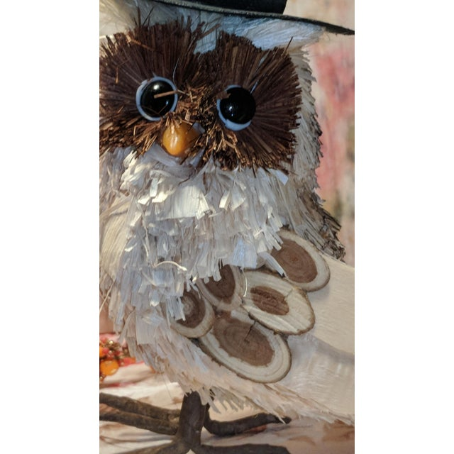Marvelous Vintage Pilgrim Thanksgiving Fall Corn Husk Wooden Owl Cjindustries Chair Design For Home Cjindustriesco