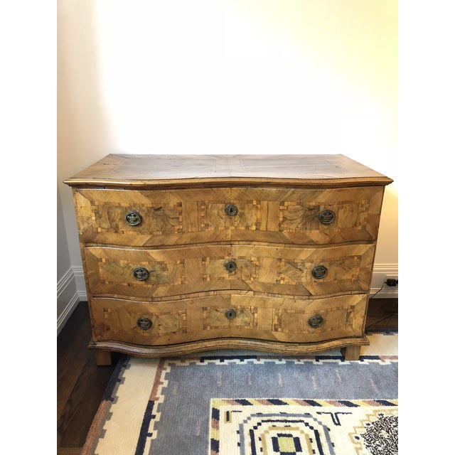 Brown Antique 18th C. Dutch Fruitwood Commode For Sale - Image 8 of 8