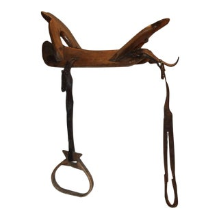 18th Century Handmade Wood Saddle Holder For Sale