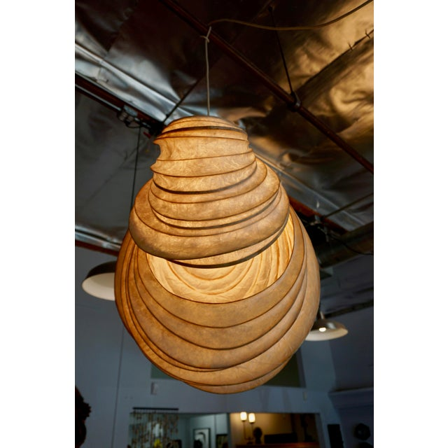 1980s Pendant Light Sculpture by William Leslie For Sale - Image 5 of 9