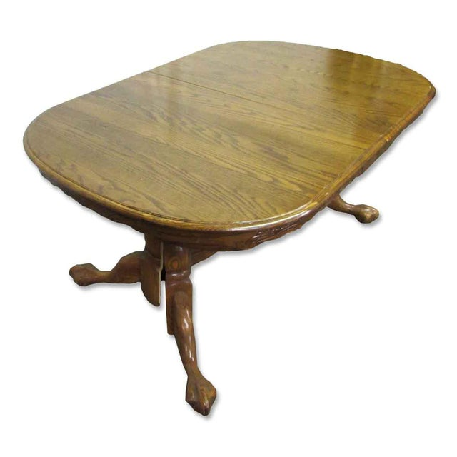 Brown High Gloss Wooden Dining Table For Sale - Image 8 of 10